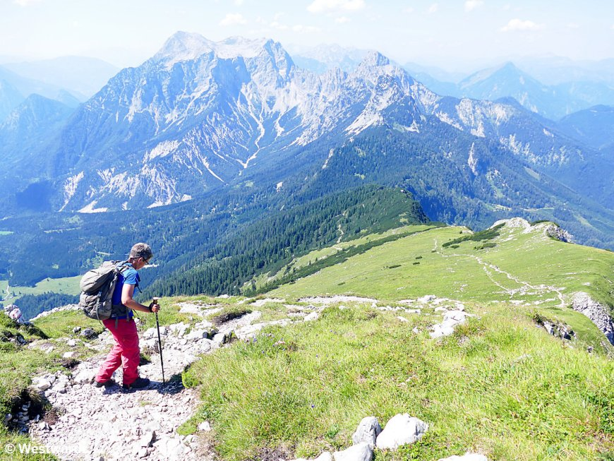 Natascha hiking in the Alps