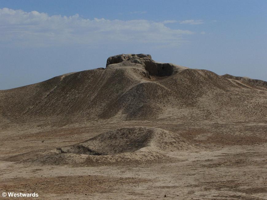 The Achaemenid town of Erk Kala in ancient  Merv,