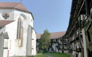 Fortification around a church