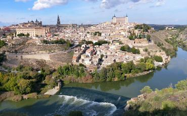 View over the river on the city of Toledo