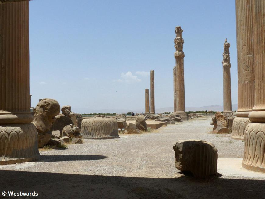 Apadana ruins in Persepolis