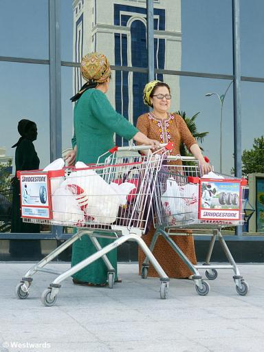 shoppers in Ashgabad
