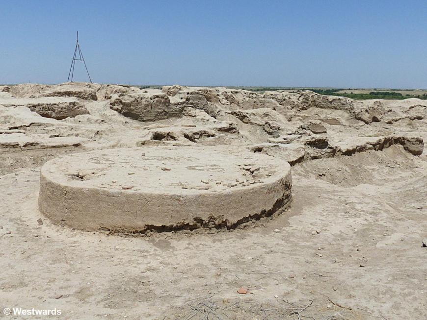ruins of ancient Paikent near Bukhara