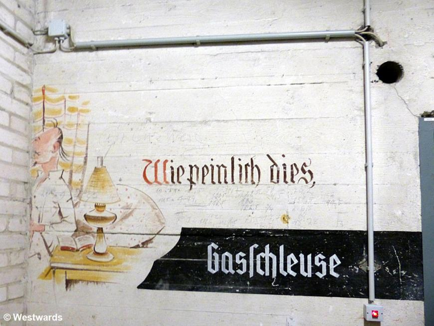 wall painting in the bunkers of Tempelhof Airport