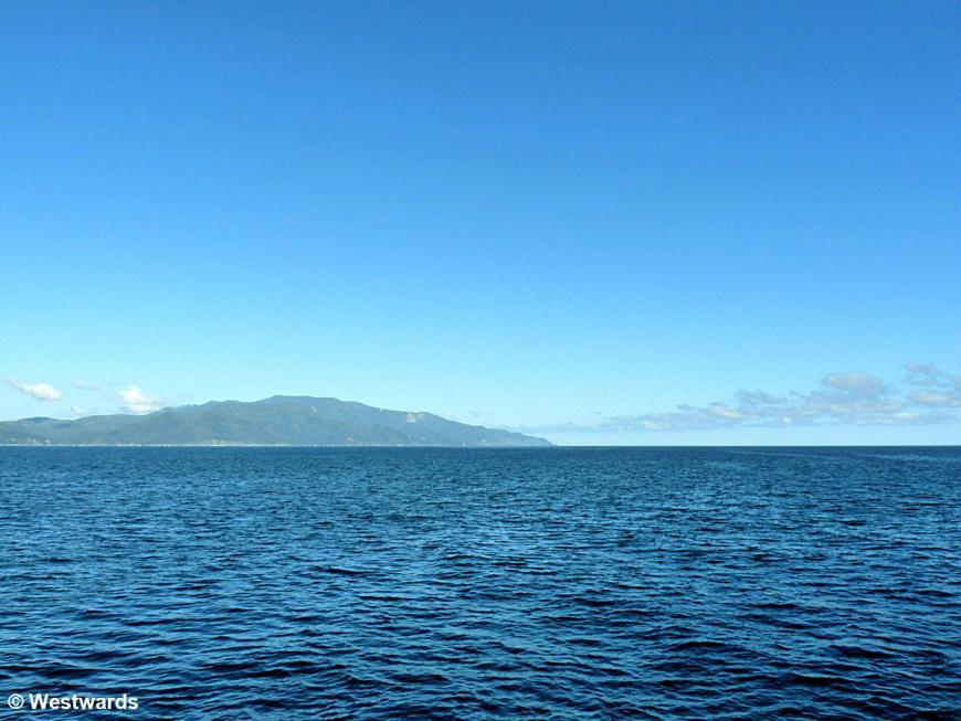 Shiretoko National Park coastline from the sea