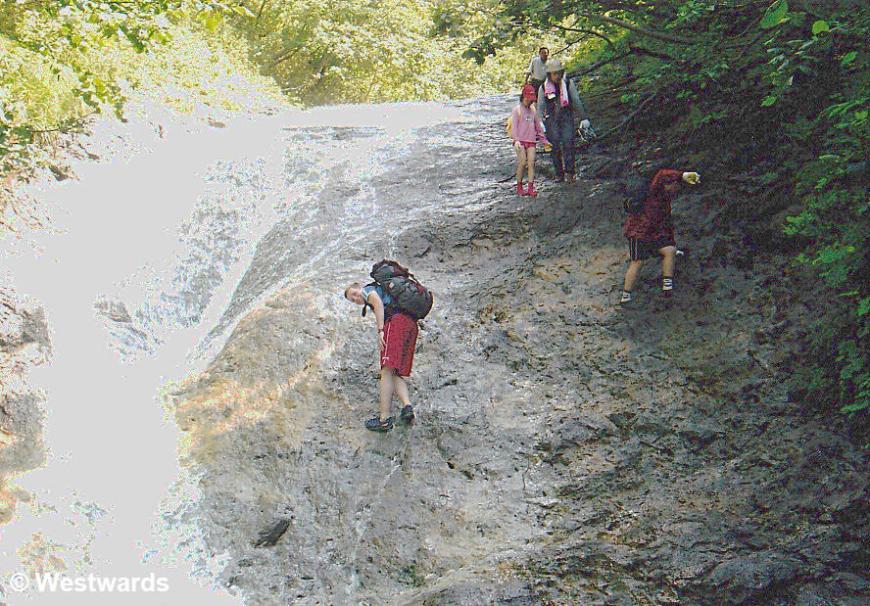 Kamuiwaka no taki, a hot waterfall in Shiretoko National Park