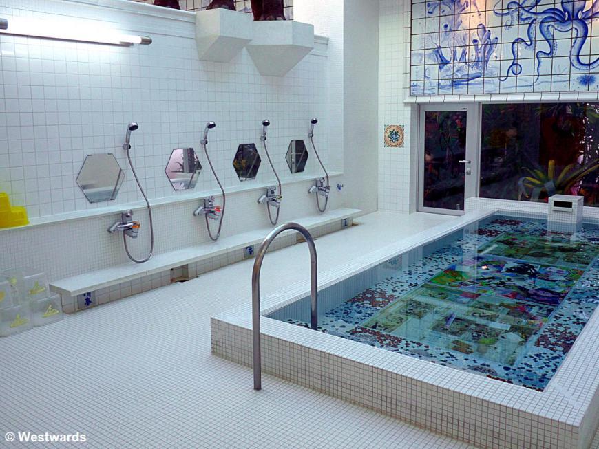 local bath interior on Naoshima