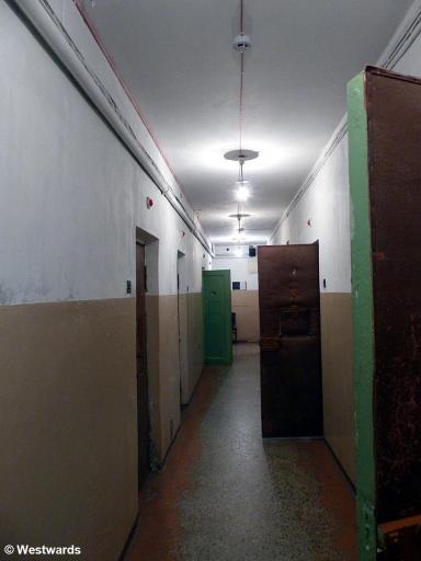 corridor with thick doors