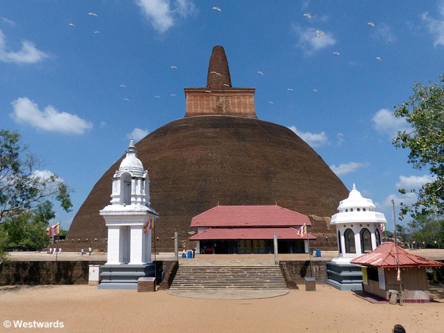 20160128 Anuradhapura Abhayagiri Dagoba P1230837