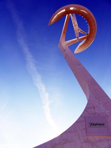 20170201 Barcelona Montjuic Calatrava tower P1380641