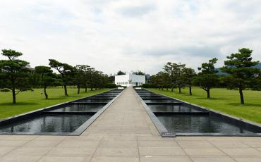 Memorial building at the United Nations cemetery