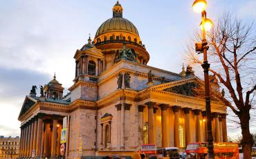 St Isaac cathedral in St Petersburg