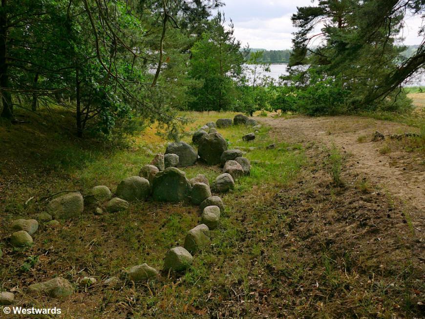 Viking tombs in Menzlin near the river Peene
