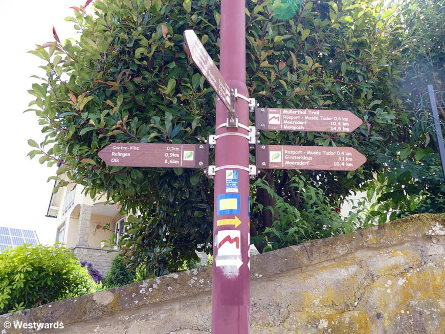 Signposts on the Mullerthal trail