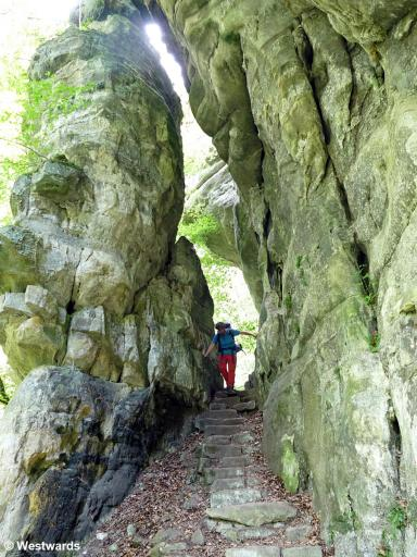 hiker on the Mullerthal trail