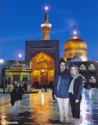 Natascha and Isa in Imam Reza Shrine