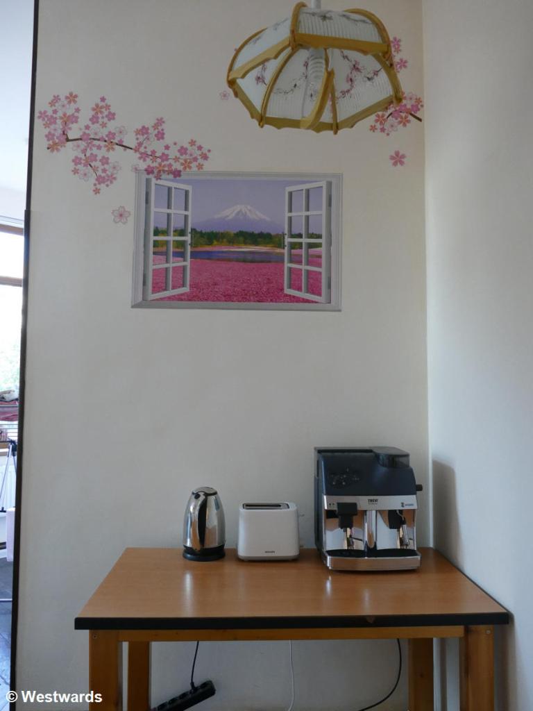 Breakfast room at the Sakura House