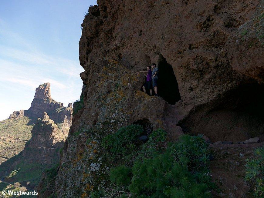 The Cuevas del Rey (king's caves) in Mt Bentayga, Gran Canaria