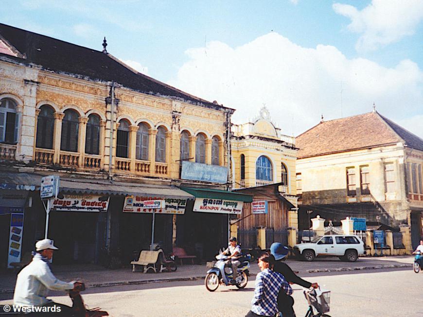 Street scene in Battambang, Cambodia, 2001