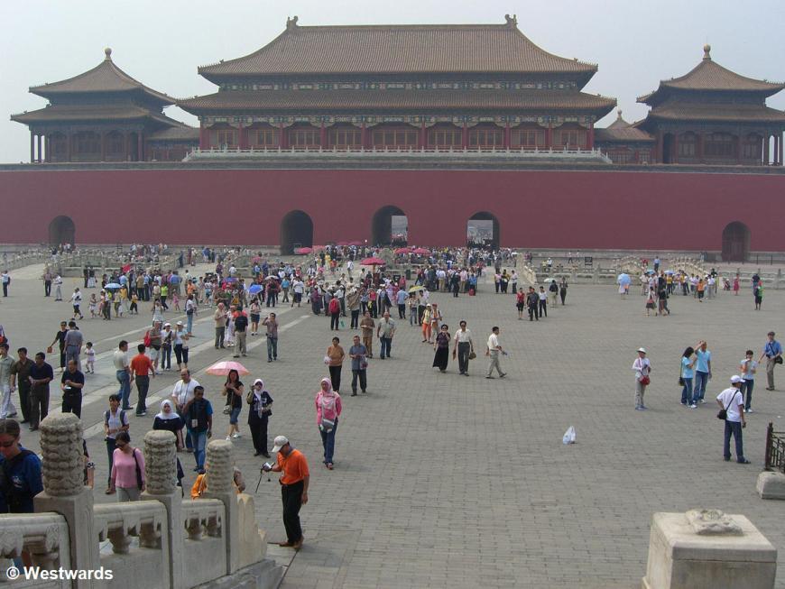 Meridien Gate of the Forbidden City Beijing with visitors