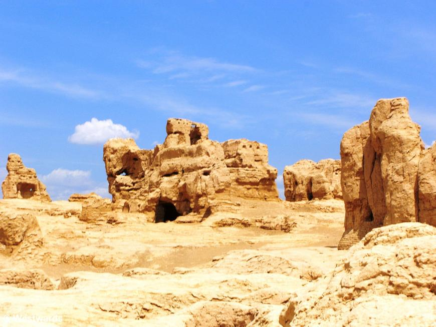Ancient silk road city Jiaohe in China