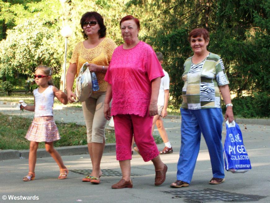 Kazakh women in Almaty
