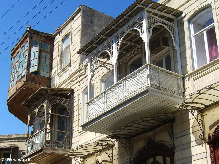 Houses in the Old Town of Baku