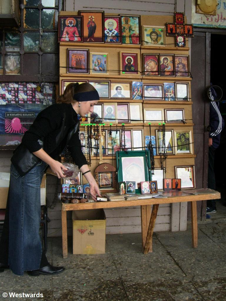 Need a travel icon? Icon stall in Kutaisi
