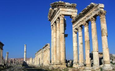 Roman columns in Apameia