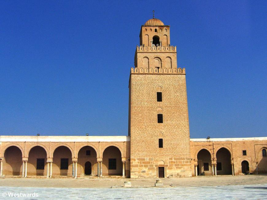 20070417 Kairouan Grosse Moschee Minarett1