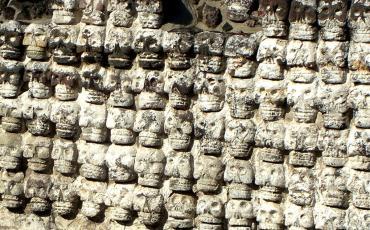 Skulls at the Templo Mayor in Mexico City