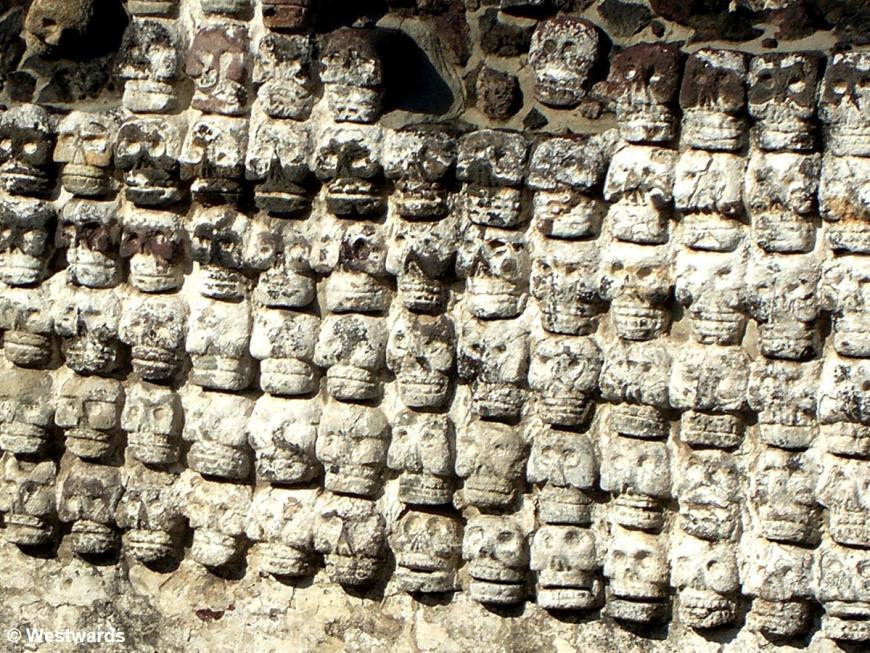 20071013 Mexico City Templo Mayor skull rack 8436