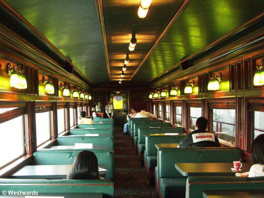 interior view of Panama Canal Railway waggon