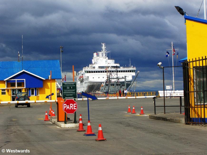 Navimag Ferry in Punta Arenas harbour