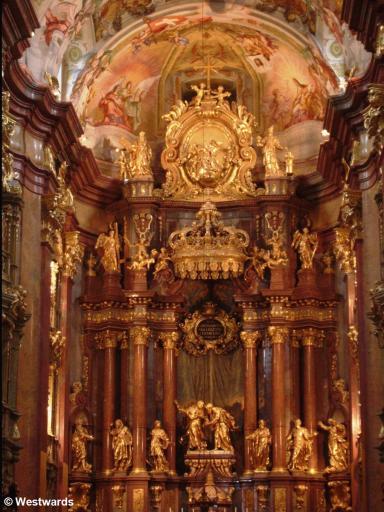 Baroque high altar in the Austrian monastery Stift Melk