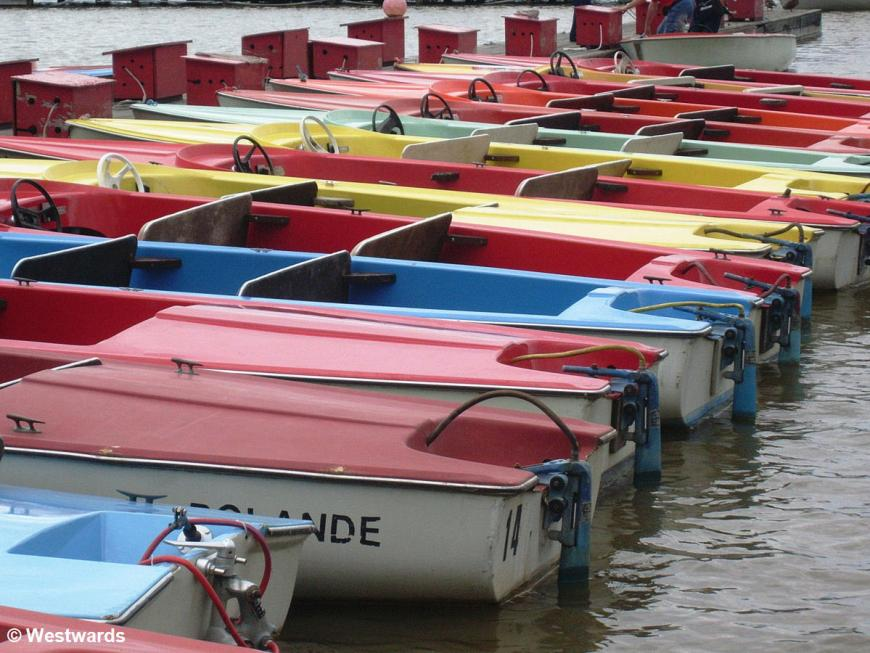 Boats on Lake Neusiedel