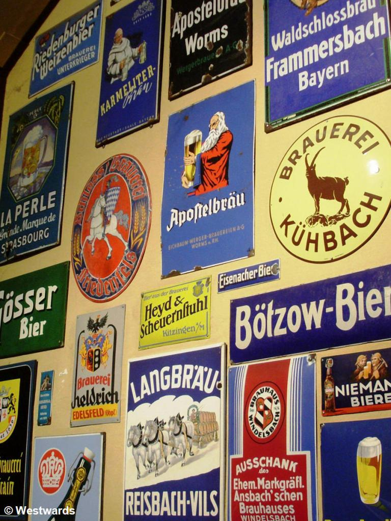 Beer ads in Bayreuth Maisels brewery museum