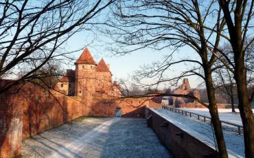 Malbork castle in winter