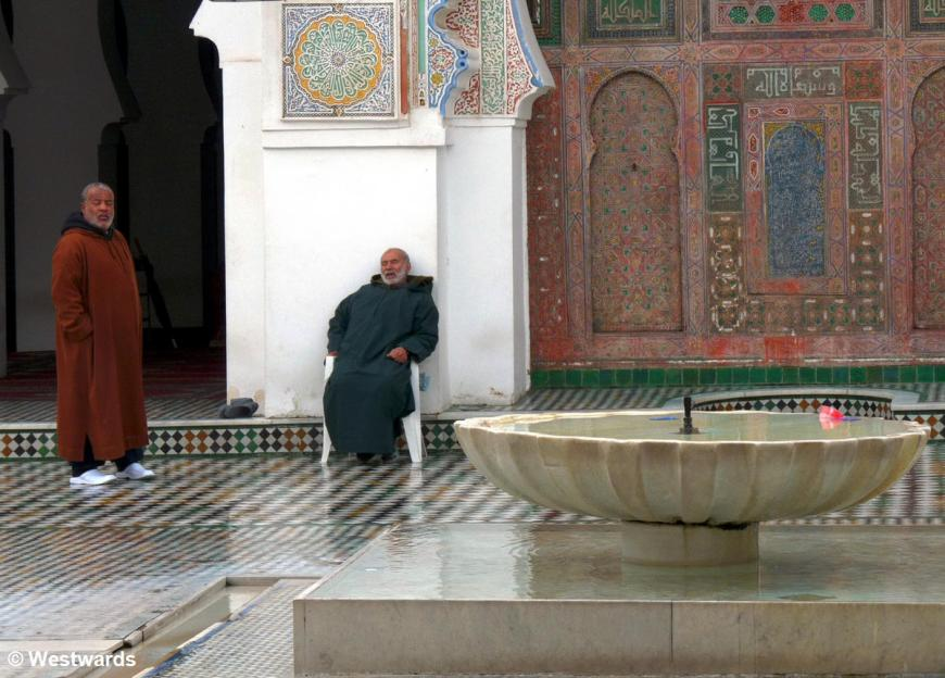 Kairaouine Mosque in Morocco after the rain
