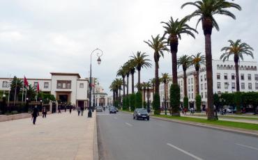 Ave Mohammed V, a modern street in Rabat, Morocco