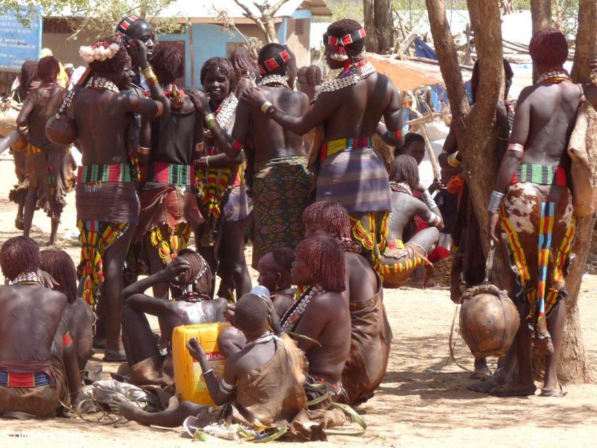 Hamer people on the market in Turmi