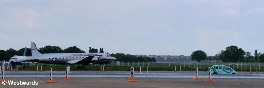 electric car at the Tempelhof airport Challenge Bibendum event