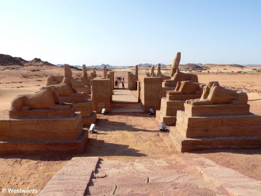 sphinges in NewSebua, Upper Egypt