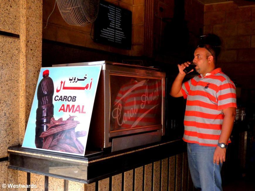 carob juice stall in Alexandria