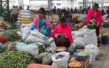Indigena women selling vegetable
