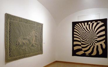 Zebra op-art at the Vasarely Museum in Budapest