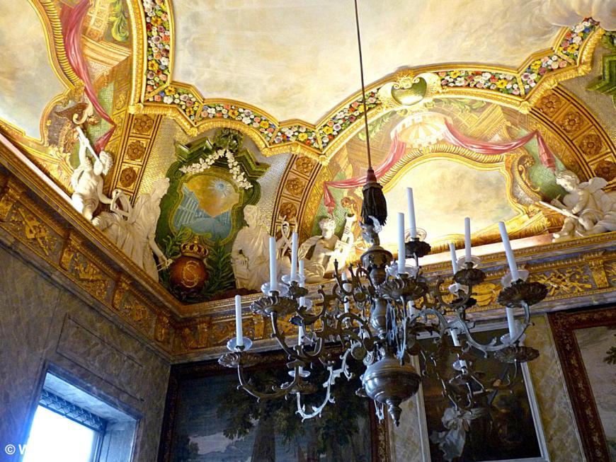 20121110 Berlin Charlottenburger Schloss Deckenfresko P1380157