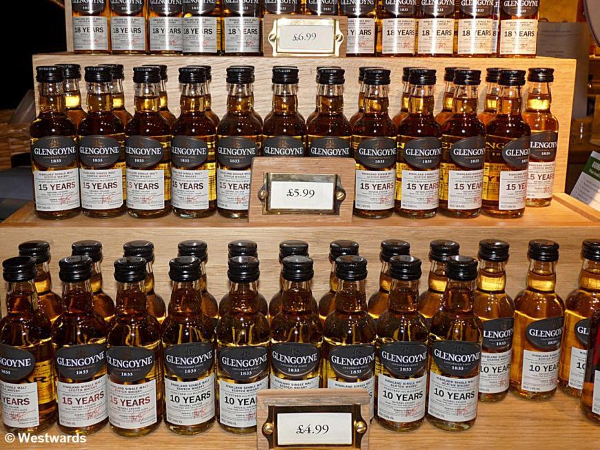 20130419 Glengoyne Distillery Minibottles P1420784