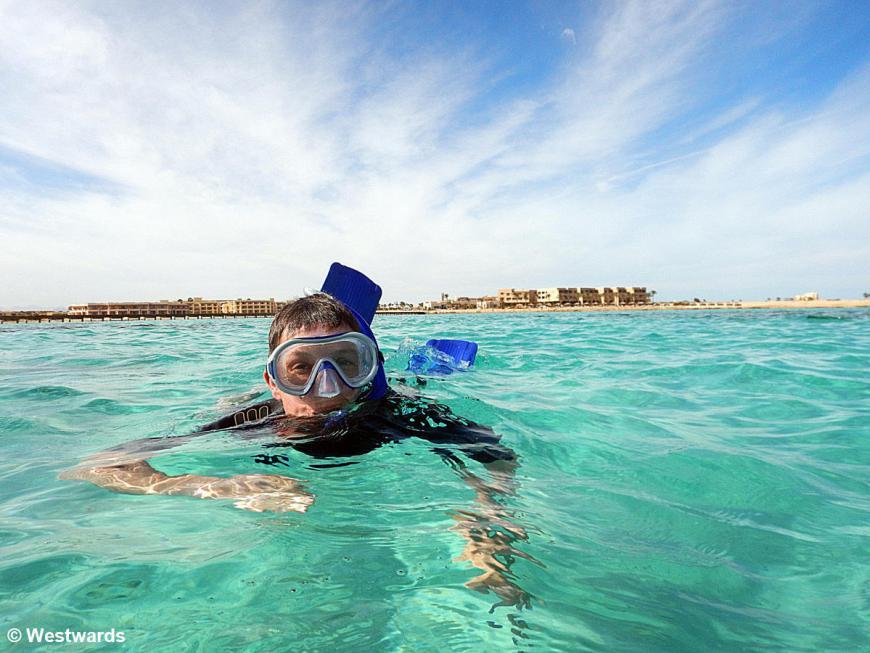 winter snorkelling in Soma Bay
