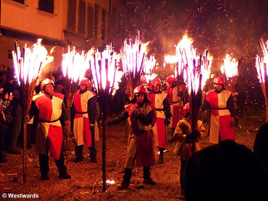 Fire procession ath the Chienbäse in Liestal
